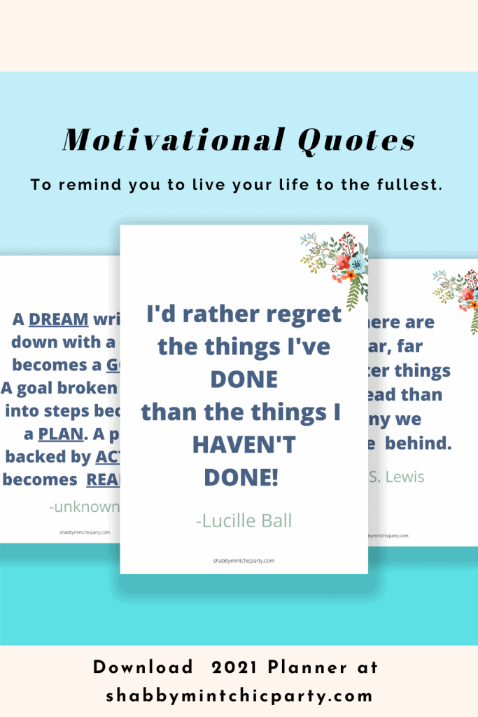 motivational quotes in 2021 planner