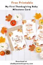 Free First Thanksgiving Milestone Printable Card
