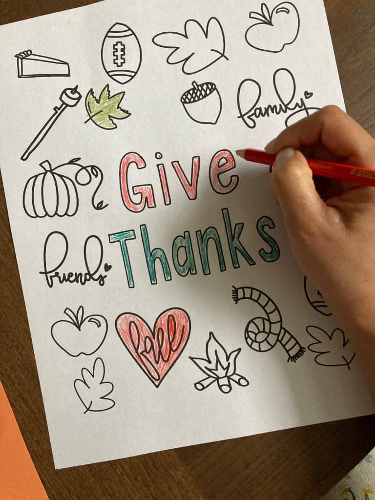 Thanksgiving coloring pages Give Thanks