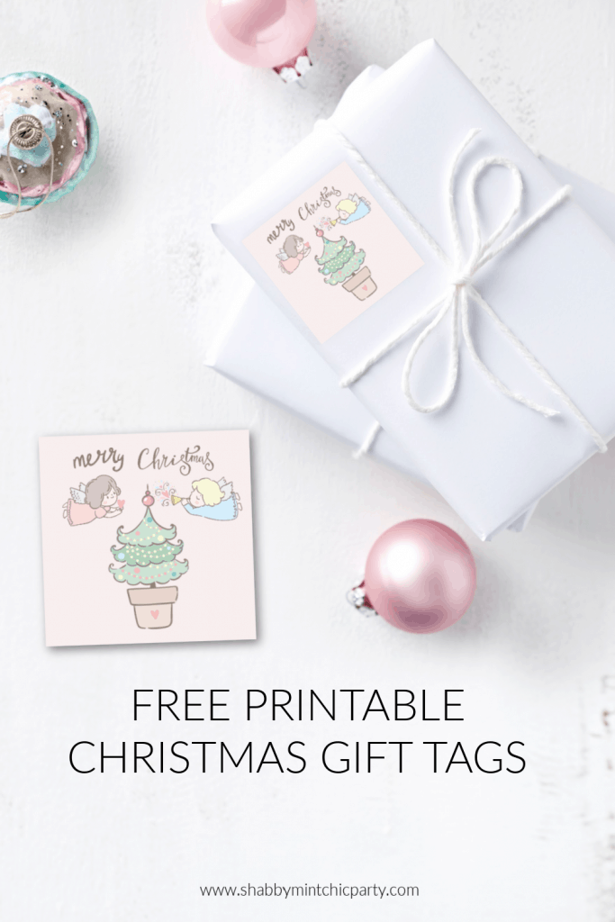 printable christmas gift tags angels freebie