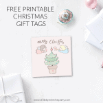 Cute Printable Angel Christmas Tags