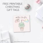 Cute Printable Angel Christmas Tags