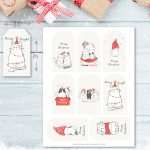 Free Printable Christmas Cat Gift Tags