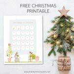 Free Printable Christmas Countdown with woodland animals
