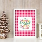 Free Printable Happy New Year Wall Art