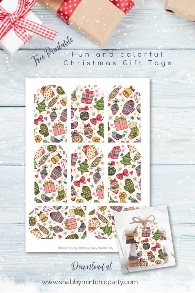 free christmas tag printables colorful