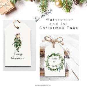 christmas gift tag freebie