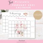 Free February 2021 Calendar Printable