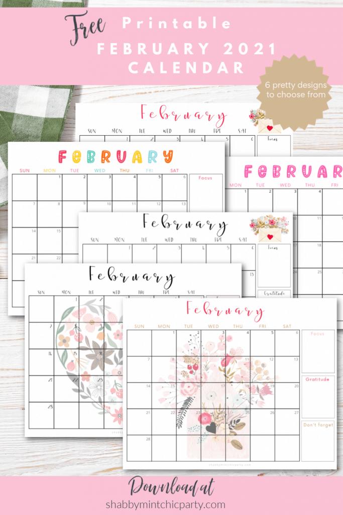 february 2021 calendar printable freebie
