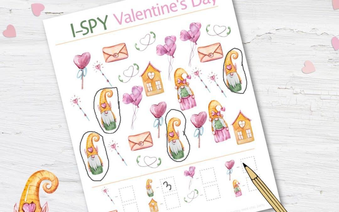 free valentine's day I-SPY gnomes