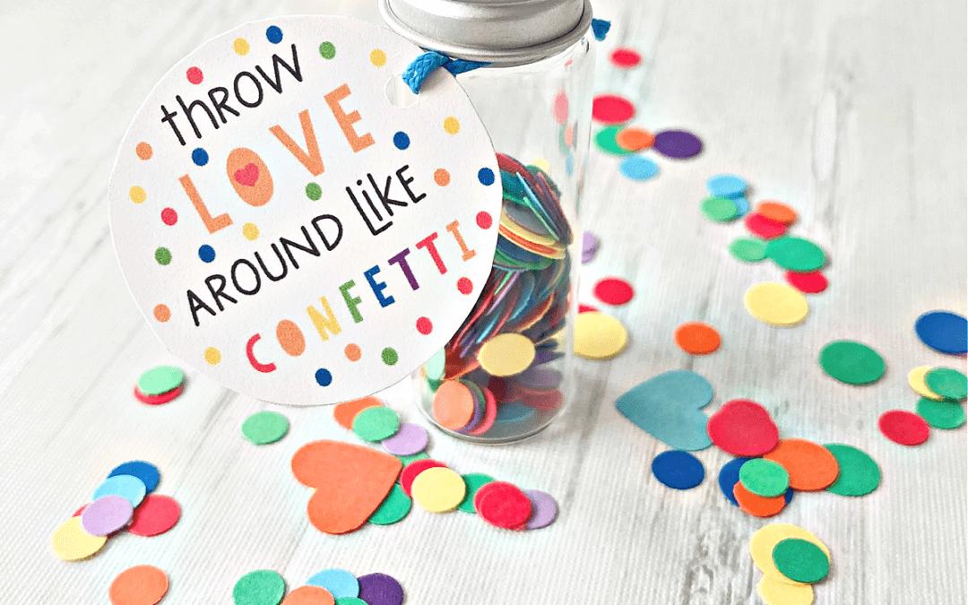 confetti gift tags printable