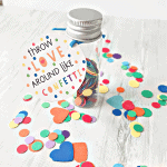Two Non-Candy Valentine's Day Gifts with Confetti Gift Tags