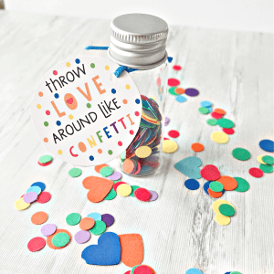 confetti gift tags printable