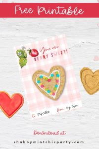 Valentine's Day Treat cookie card