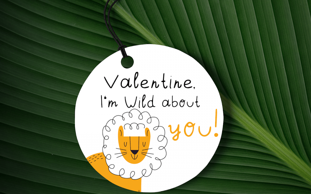 Free Printable Valentine's Day gift tags Valentine, I'm wild about you