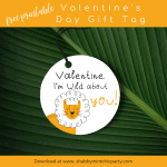 Free Printable Wild Valentine's Day Gift Tags