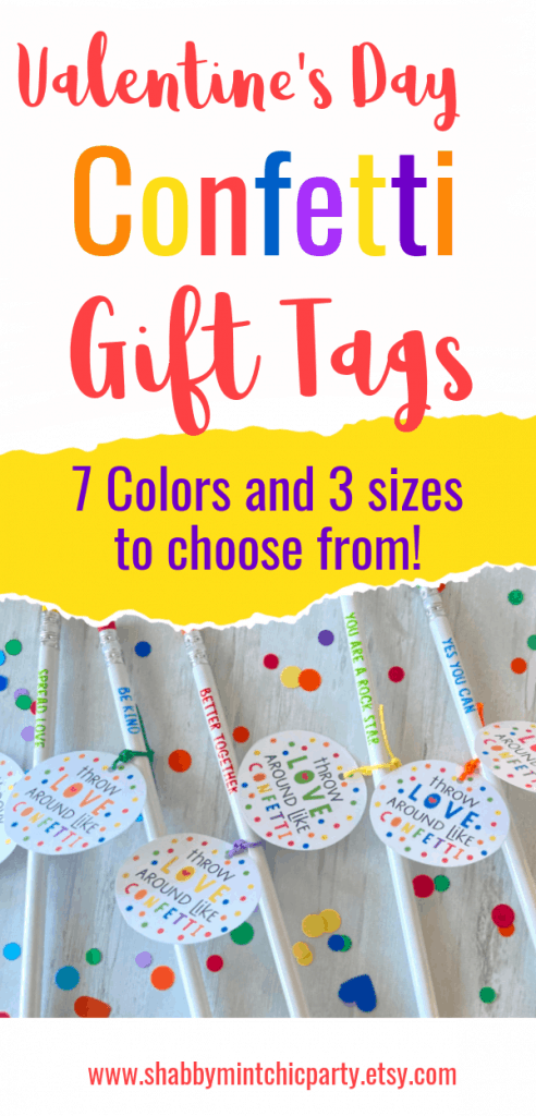 Confetti Vday gift tags