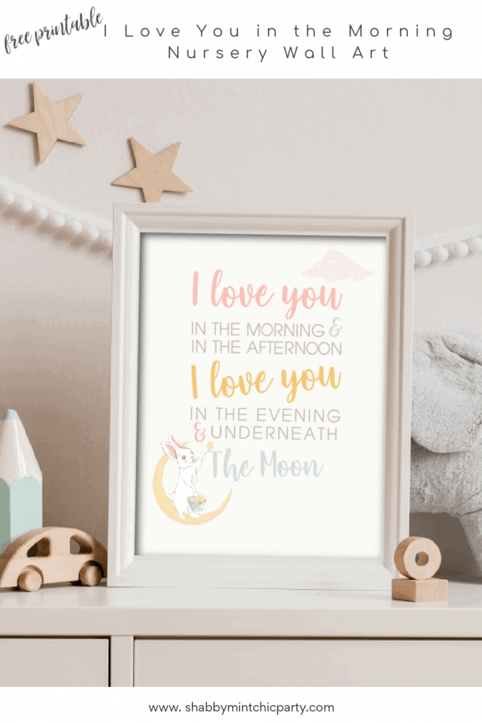 i love you in the morning bunny Pinterest Pin