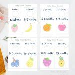 Free Printable: Fun Kawaii fruits baby closet dividers