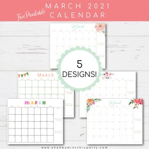 free printable 5 designs March 2021