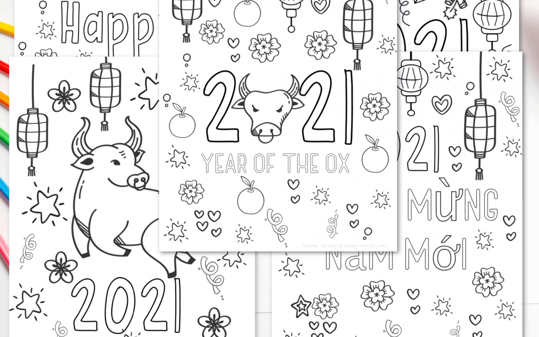 lunar new year coloring pages printable