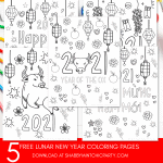 5 Free Lunar New Year Coloring Printables