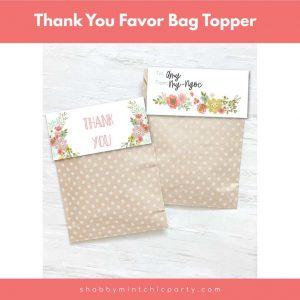 free thank you bag topper