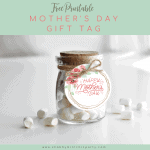 Beautiful Floral Wreath Mother's Day Gift Tag