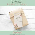 Free Printable Boho Floral Gift Tags