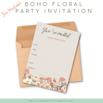 Free Printable Boho Floral Invitation