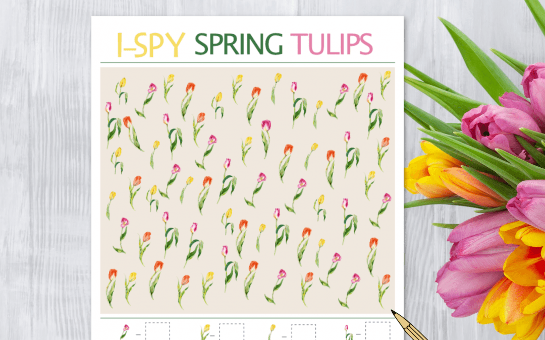 i spy spring tulip printable free