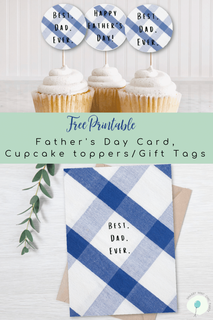 Father's DAy card and gift tag freebie