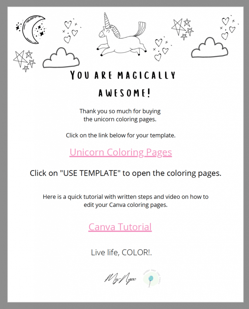 coloring pages link in canva