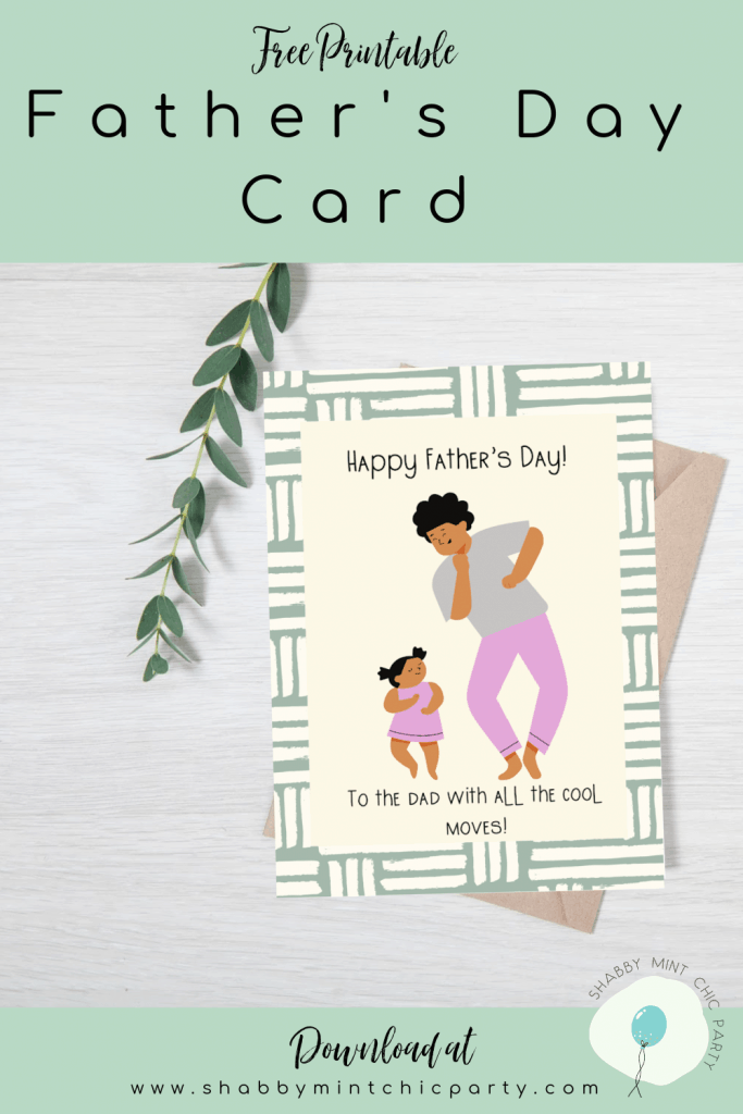Father's Day card with dad dancing with girl