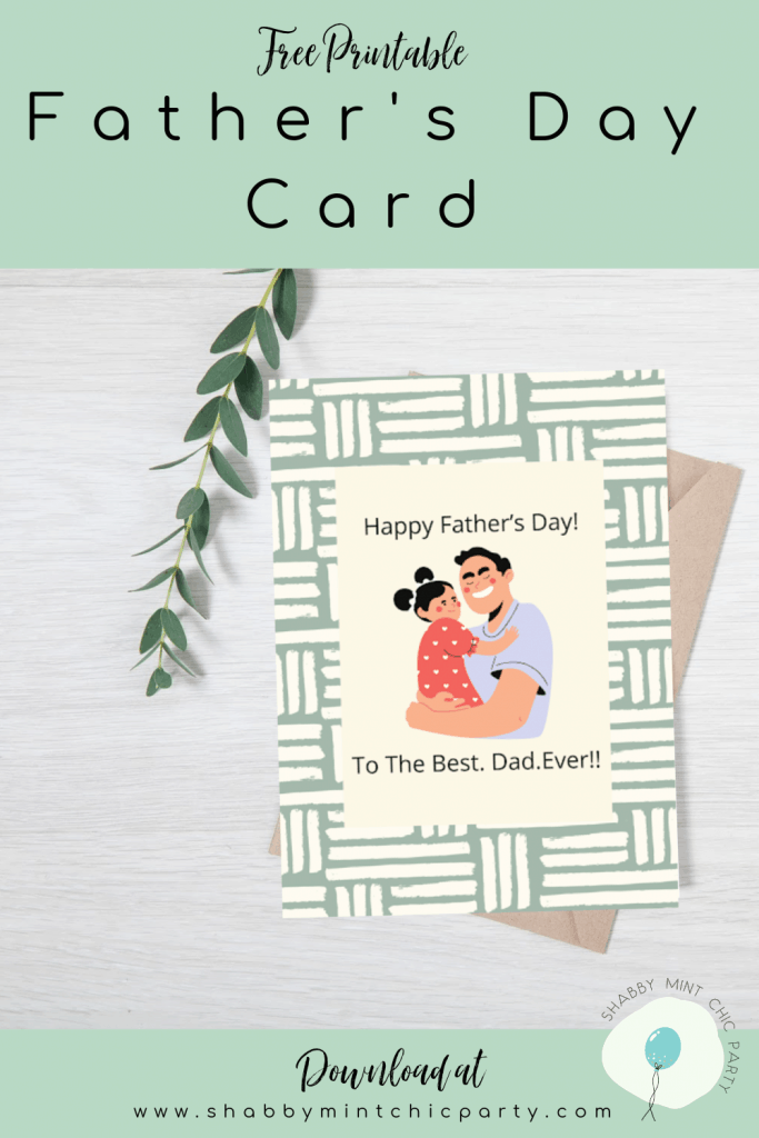father's day card daddy carrying girl