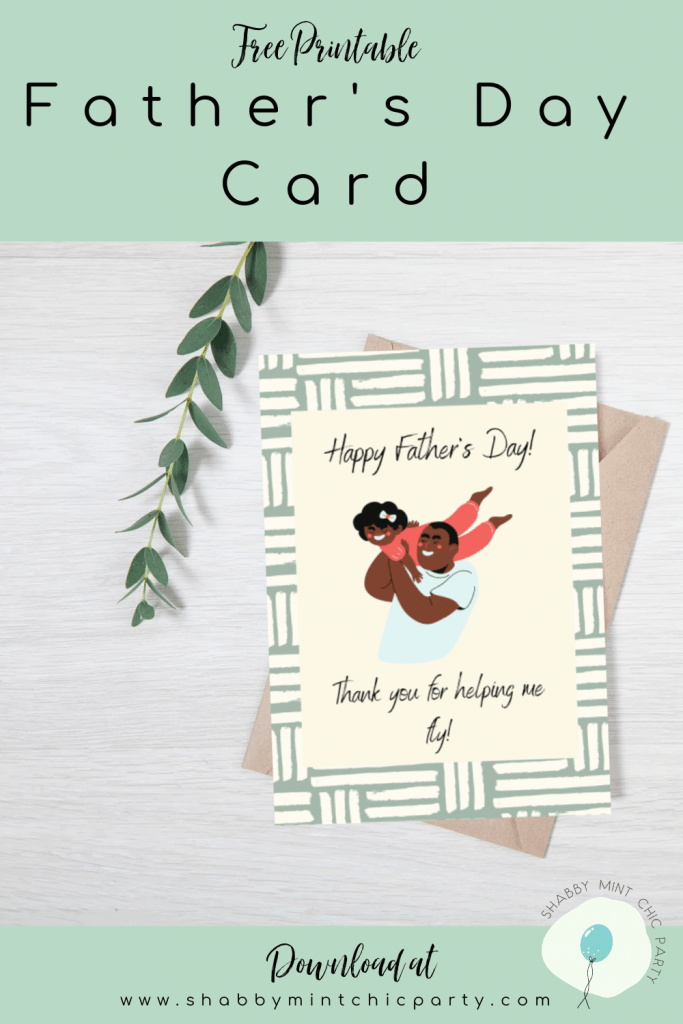 Father's day card helping me fly