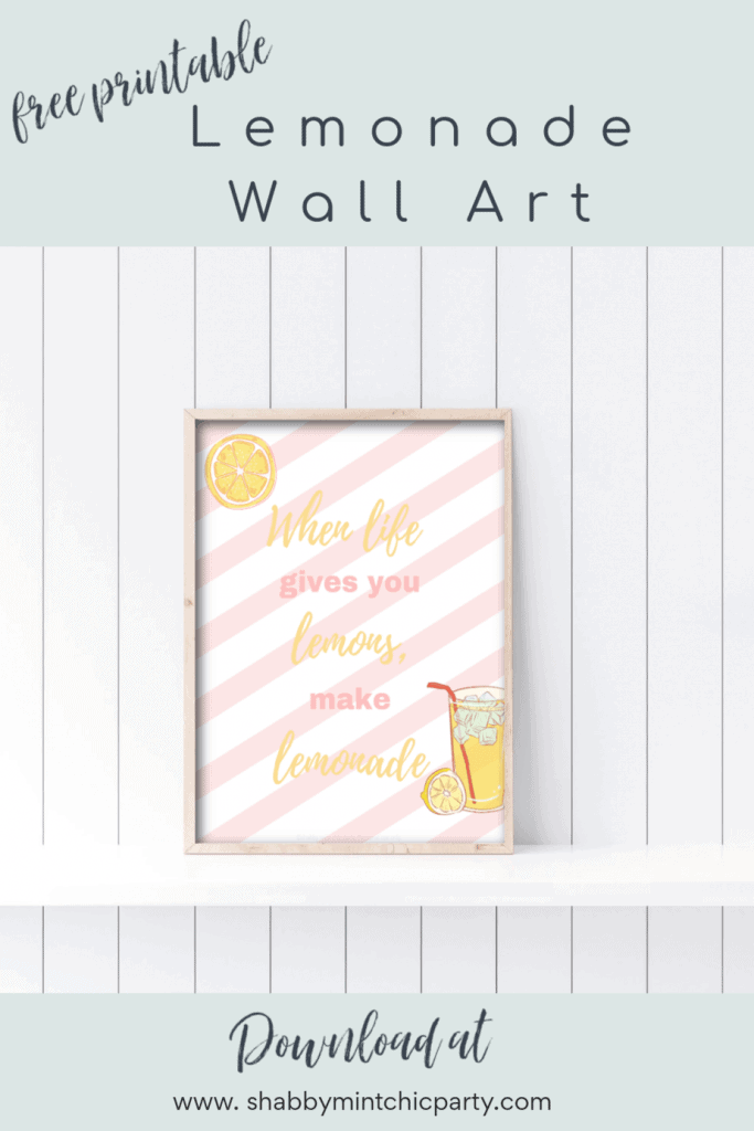 Printable Lemonade wall art