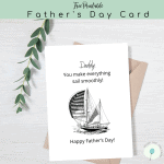 Free Printable SailBoat Father's Day Card