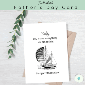 father's day printable card sailboat