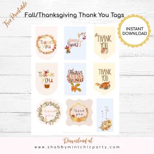 free printable fall thanks giving gift tags 9 tags total
