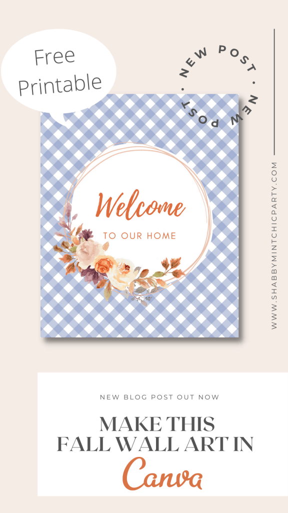 fall welcome sign free printable
