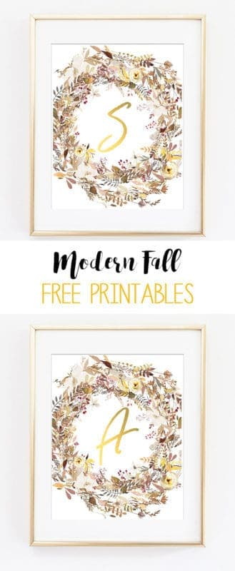 monogram wall art printable freebies